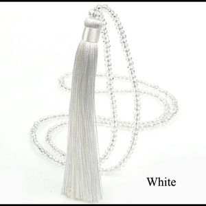 Jewelry - White Tassel Necklace